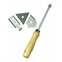 Škrabka na barvy a laky dřevěná rukojeť sada tří škrabáků Mako