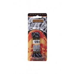 Tkaničky bennon Black-Grey Box 120 cm