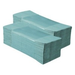 Papírové ručníky skládané zelené  STANDARD karton