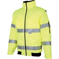 HOWARD žlutá reflexní zimní bunda