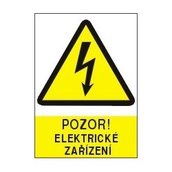 Pozor - elektrické zařízení 210x297 mm