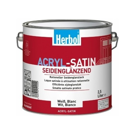 Herbol Acryl Satin Weiss 2,5 l
