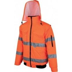 Clovelly reflexní zimní bunda oranžová