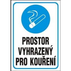 Prostor vyhrazený pro kouření 210x297 mm - samolepící
