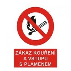 Zákaz kouření a vstupu s plamenem 210x297 mm - samolepící