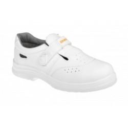 Obuv ADAMANT WHITE S1 sandál s ocelovou špicí bílý
