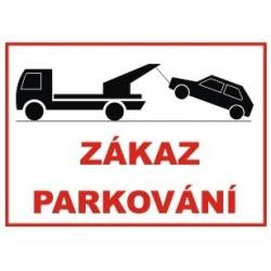 Zákaz parkování 297x210 mm - plast