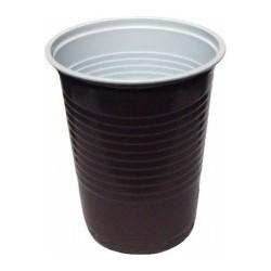 Kelímek 0,2l hnědo-bílý na kávu PS 100ks